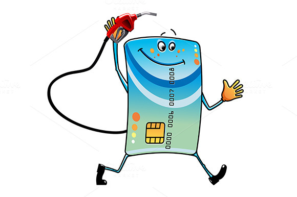 Credit Card With Gasoline Pump