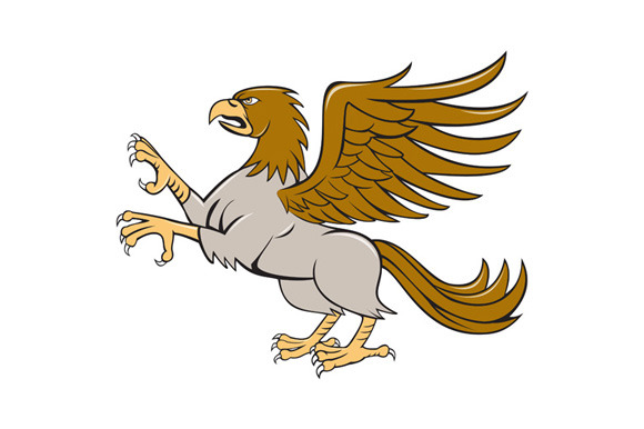 Hippogriff Prancing Side Isolated