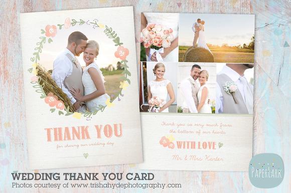 AW014 Wedding Thank You Card