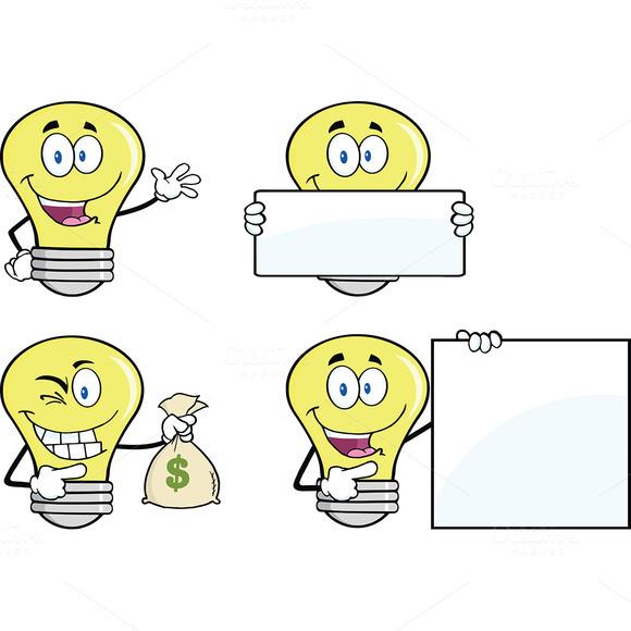 Yellow Light Bulbs Collection 5