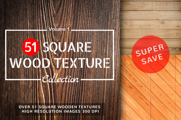 51 Square Wood Texture Vol.1