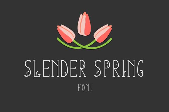 Slender Spring Font