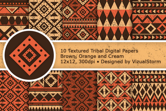 Tribal Digital Paper Pack