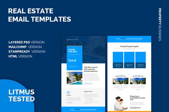 Free indesign templates real estate designtube creative design content for Indesign email templates