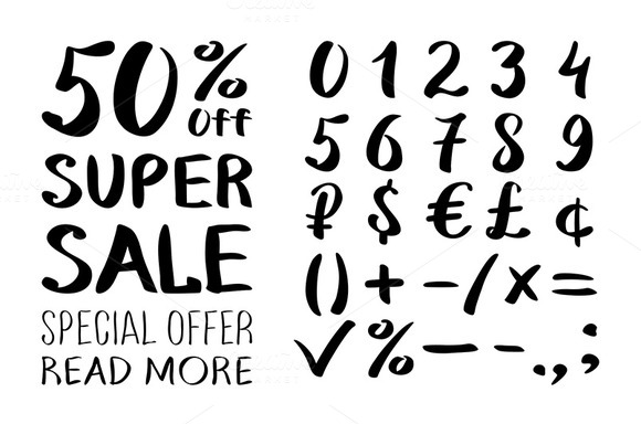 Sale And Set Of Numbers