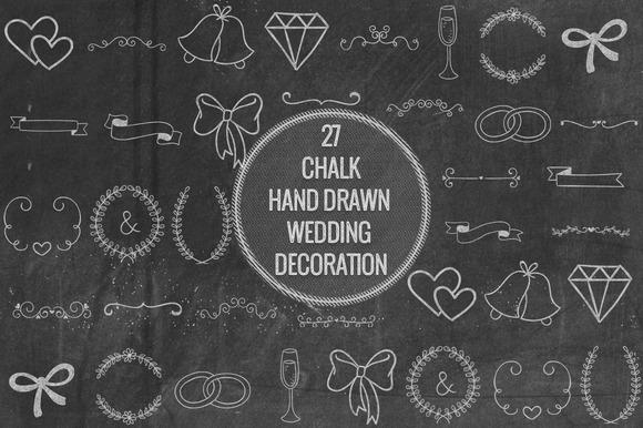 Chalk Hand Drawn Wedding Decoration
