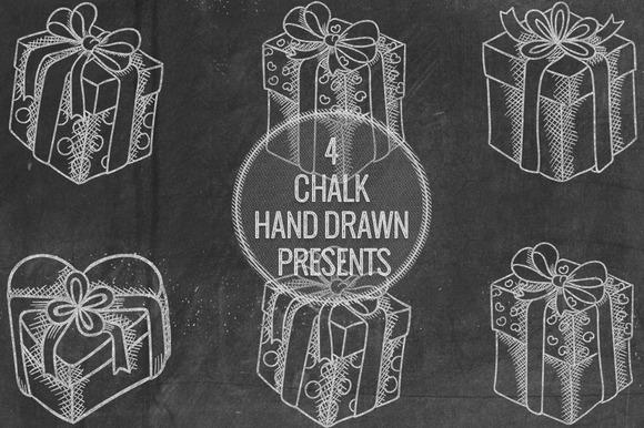 Chalk Hand Drawn Presents