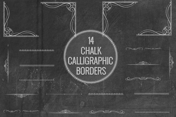 Chalk Calligraphic Borders