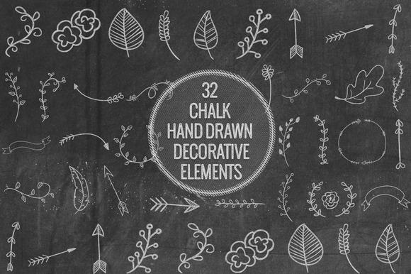 Chalk Hand Decorative Elements