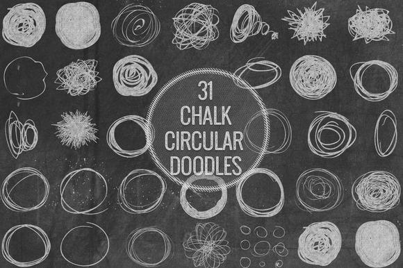Chalk Circular Doodles