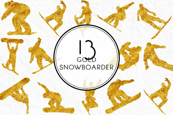 Gold Snowboarder