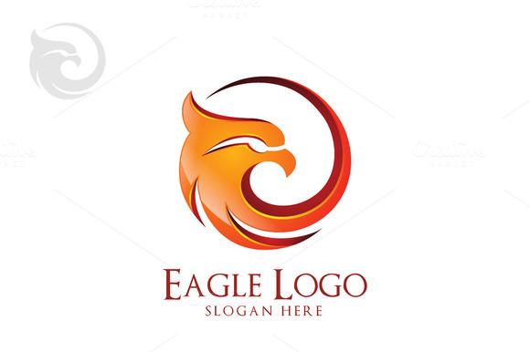 Eagle Logo In Circle Hawk Phoenix