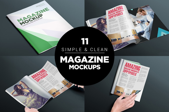 17 Softcover Magazine Mockups Vol 4