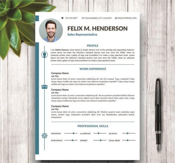 CV Resume Modern Template For Word