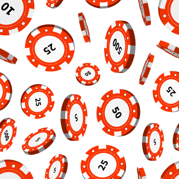 Red Casino Chips In Air