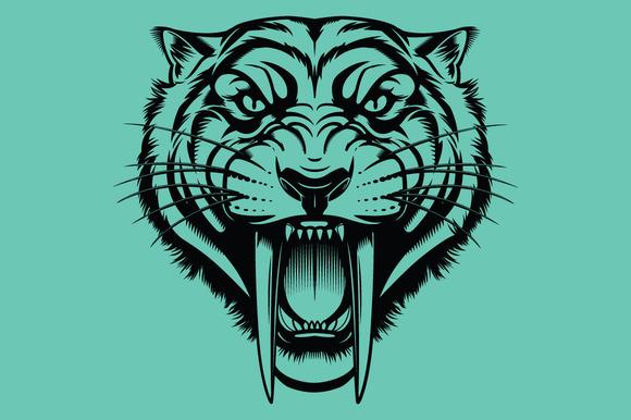 Vector SaberTooth Tiger Head