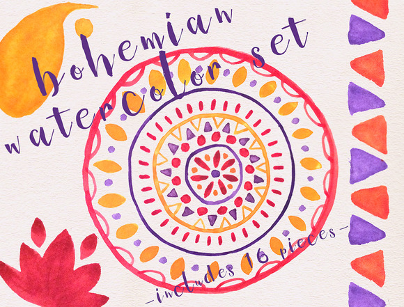 Bohemian Watercolor Set