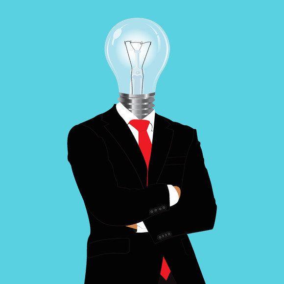Bright Ideas Businessman Vector