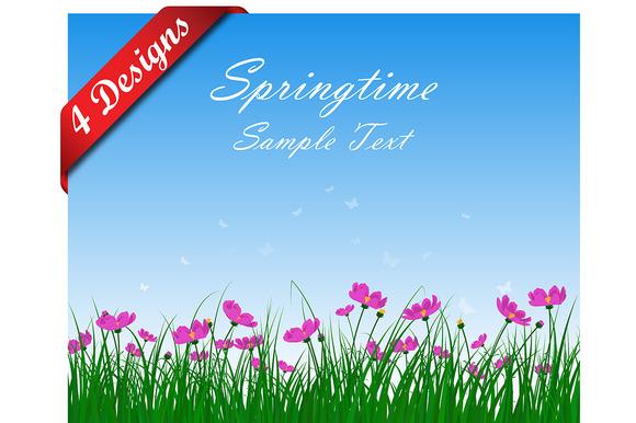 4 Designs Of Springtime Meadow
