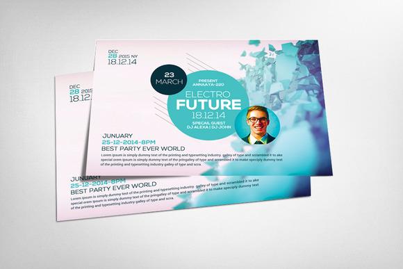 Minimal Futuristic Psd Flyer