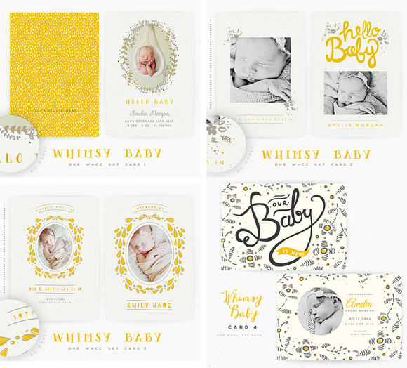 A Whimsy Baby 5x7 Cards Vol 1