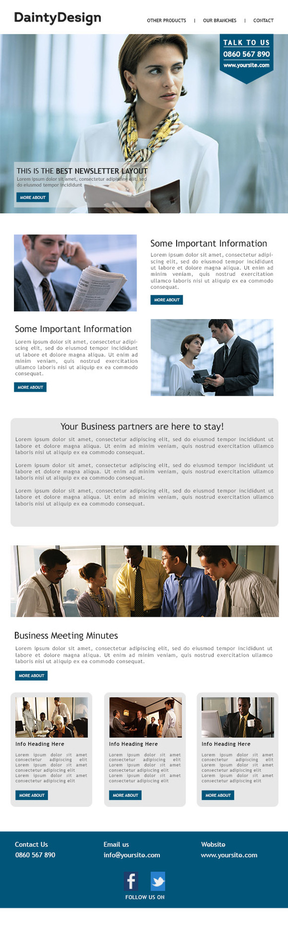 Multifunctional Business Newsletter