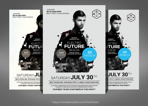 Electro Future Concert Dj Flyer