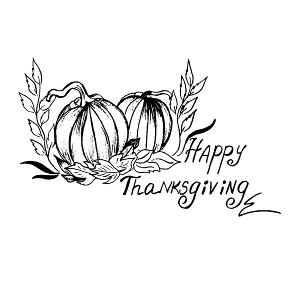 Thanksgiving Sketch Vector