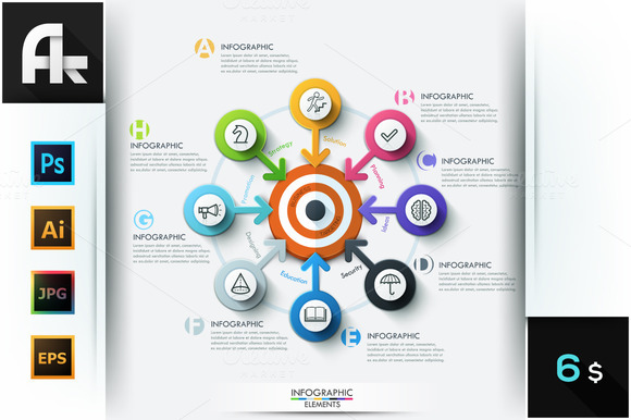 Modern Business Target Infographic