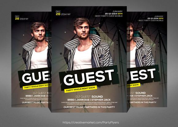 Guest Party Flyer Konnekt