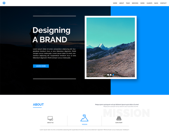 WALK One Page Responsive Template