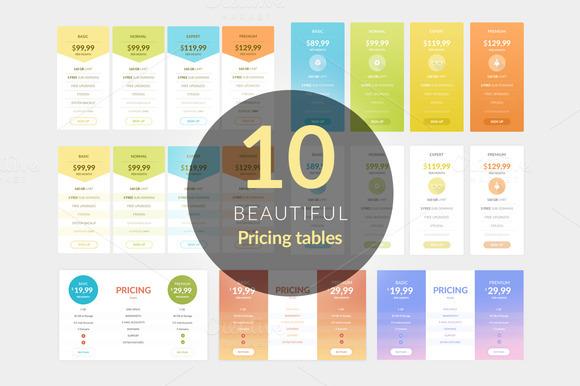 Pricing Tables Bundle