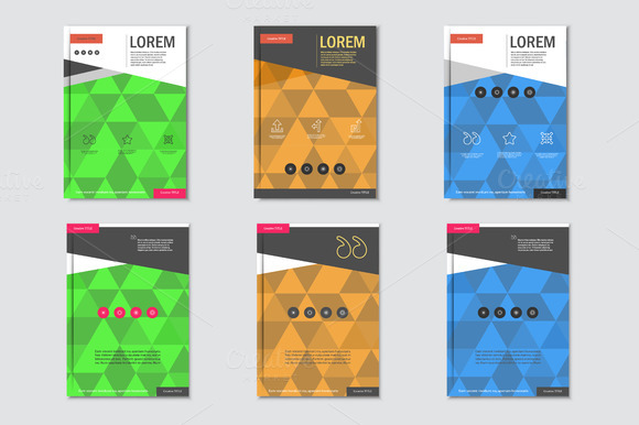 Brochure Design With Triangular