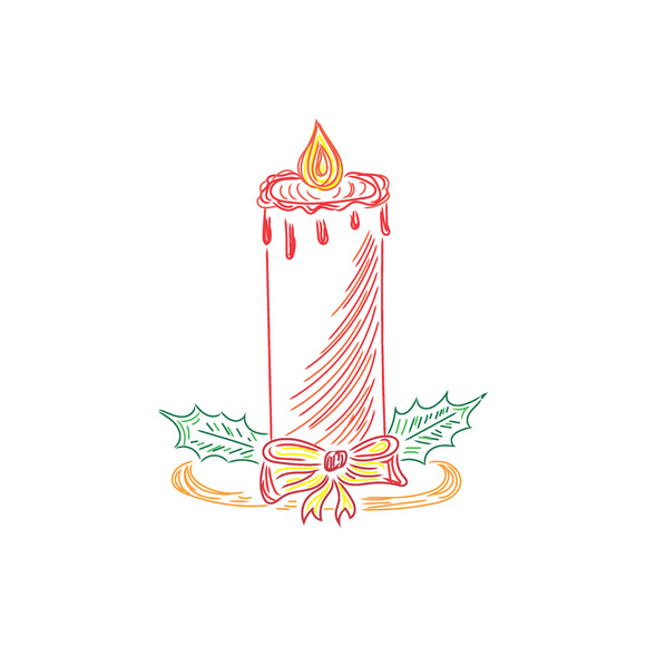 Christmas Candle Sketch