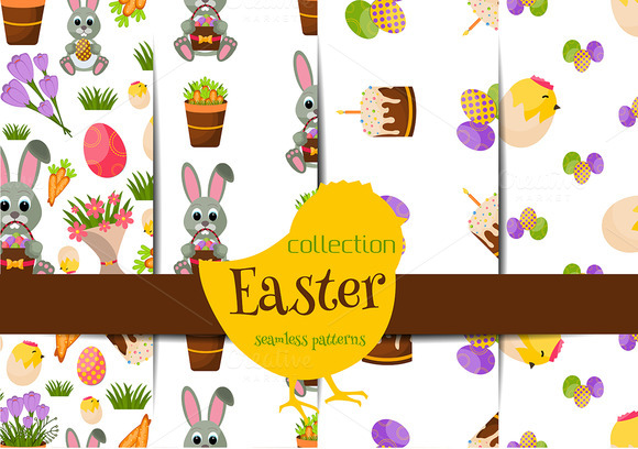 Happy Easter Seamless Pattern SetV.2