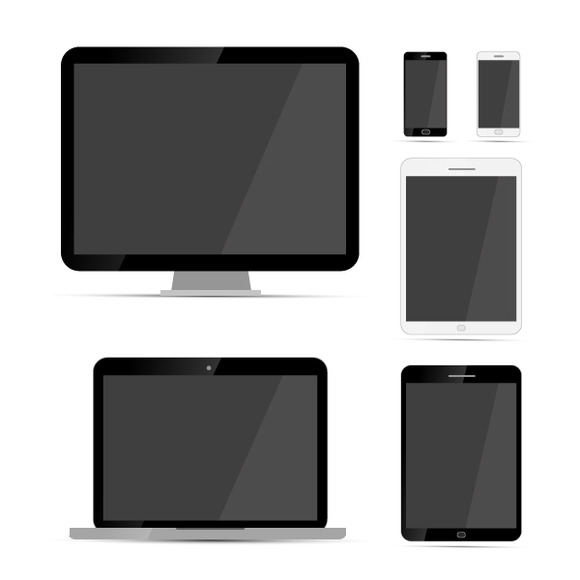 Display Laptop Tablets And Phones