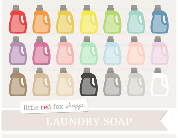 Laundry Soap Bottle Clipart
