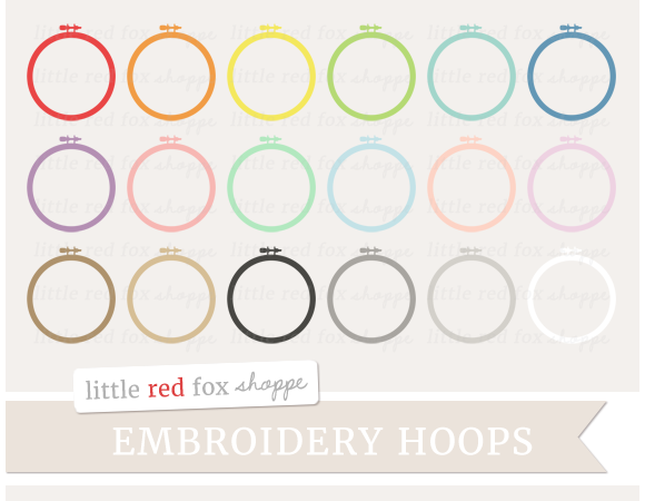 Stock graphic embroidery hoop clipart logotire