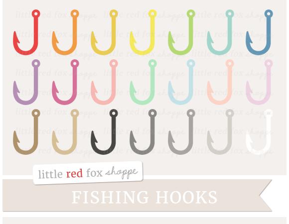 Fish Hook Clipart