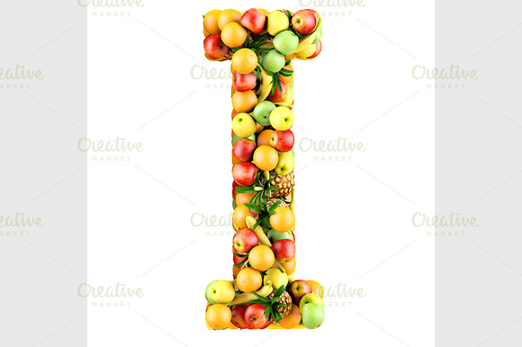 Letter Of Fruits