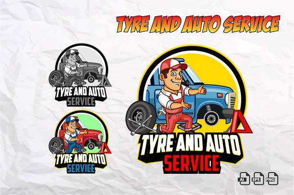 Tyre And Auto Service Logo
