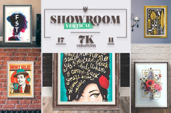 Showroom Frames Vertical Mockups