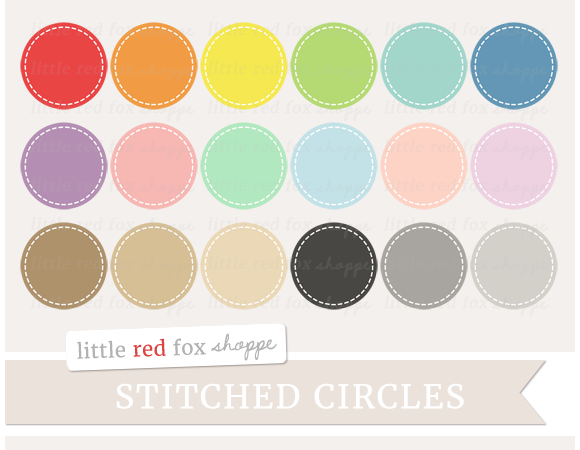 Stitched Circle Clipart