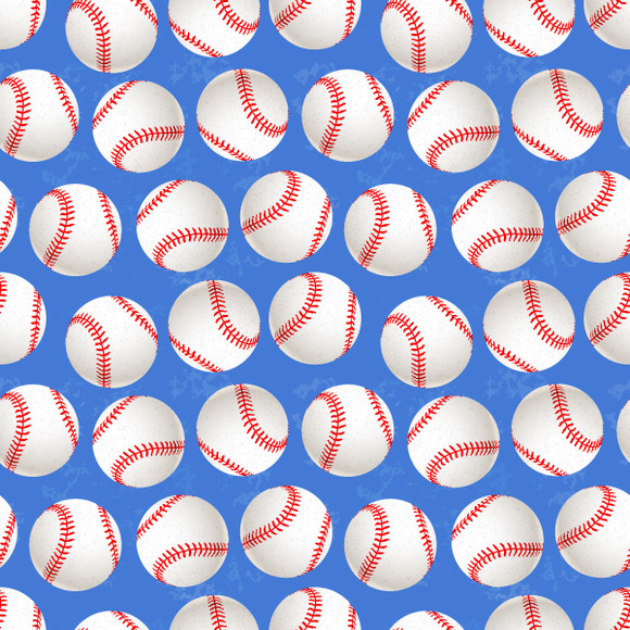 A Lot Of Baseball Balls On Blue