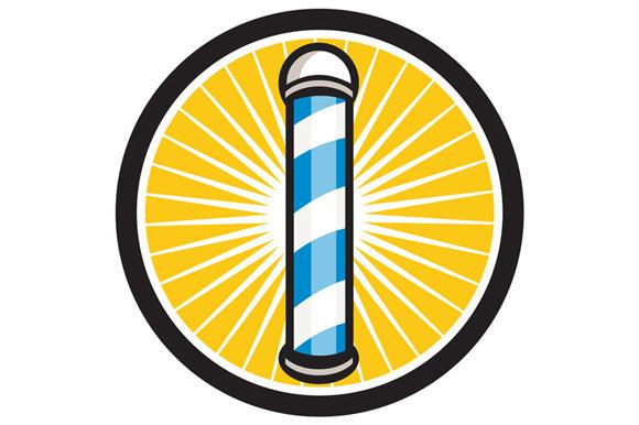 Barber Pole Circle Retro
