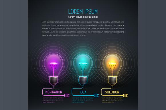 Colorful Vector Bulbs 1
