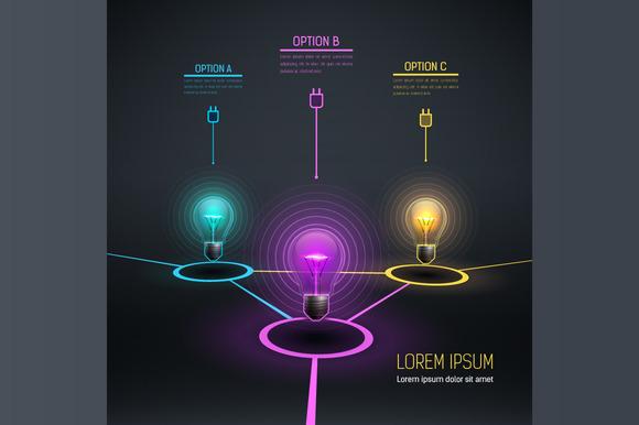 Colorful Vector Bulbs 5