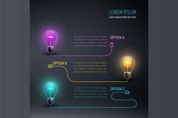 Colorful Vector Bulbs 7