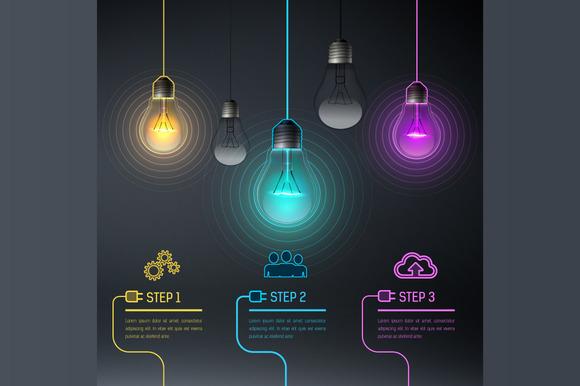 Colorful Vector Bulbs 8