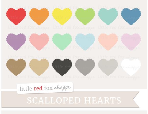 Scalloped Heart Clipart
